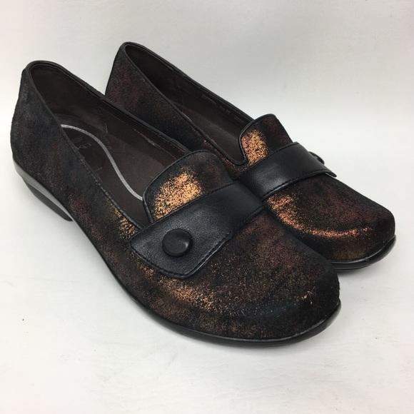Dansko Olena Low Heel Metallic Suede Copper 8.5/39